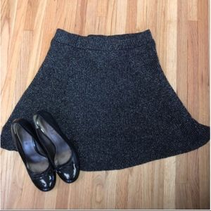 Black Silver Accent Stretchy Skirt NWOT Lined